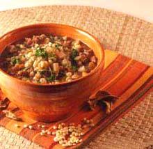 Чечевичный суп с грибами.