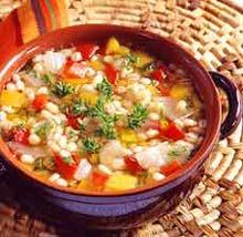 Суп с чечевицей и сладким перцем